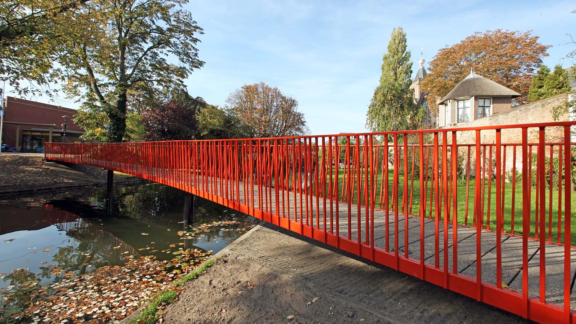 brugontwerp voetgangersbrug Lijnbaan stadsgracht Vianen