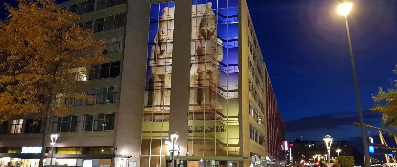 verlichting aankondiging Rijksmuseum van Oudheden Modern Murals ipvDelft