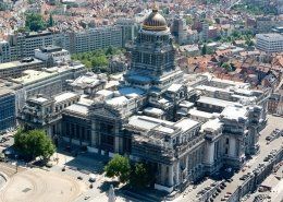 Justitiepaleis Brussel vanuit de lucht