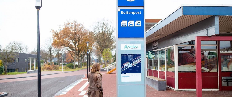 informatiezuil station Buitenpost ProRail ontwerp ipv Delft