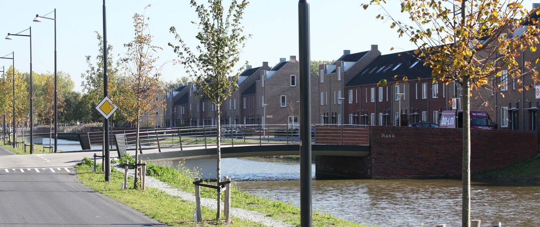 bruggen De Sniep ipv Delft overzicht vanaf autoweg