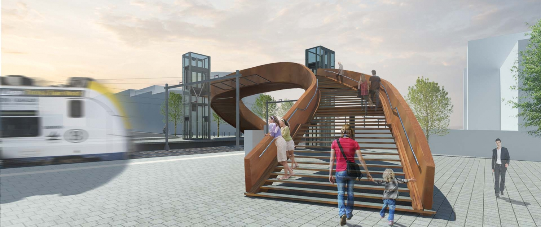 IFB.01_ontwerp-voetgangersbrug-spoor-L50-SintAgaath-Berchem-ipvDelft