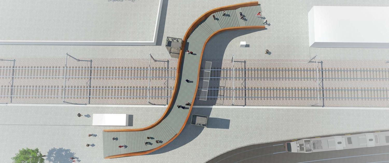 IFB.01_voetgangersbrug-over-spoor-bij-Brussel-bovenaanzicht-ontwerp-ipvDelft