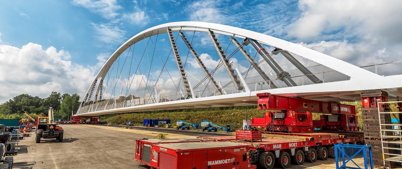 inrijden boogbrug Eindhoven A2