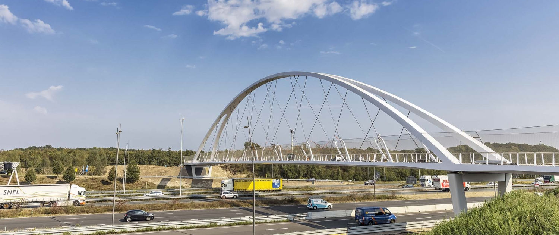 netwerkboogbrug Tegenbosch na plaatsing, ontwerp ipv Delft