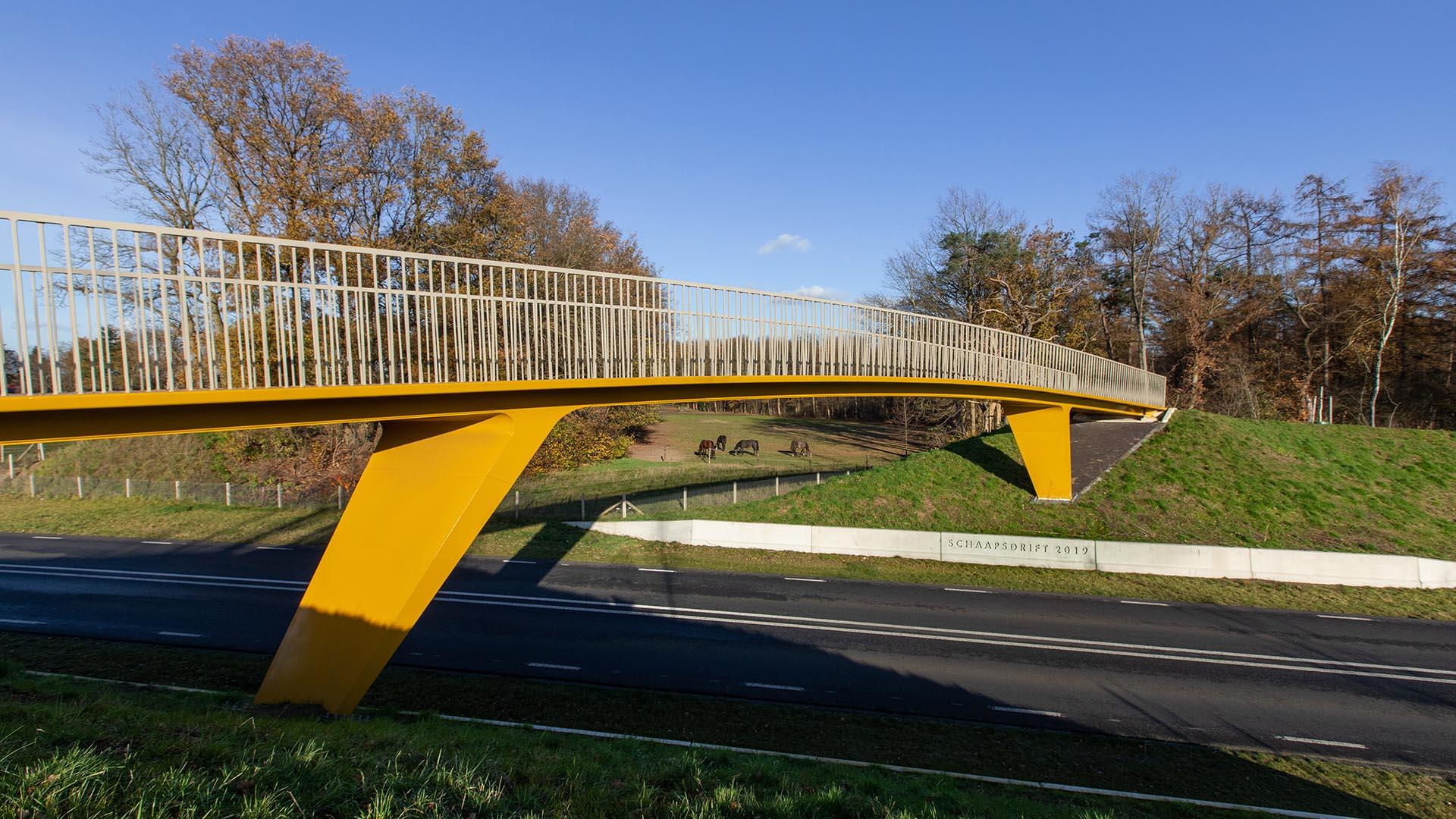 stalen Voetgangersbrug Schaapsdrift Voorthuizen Barneveld