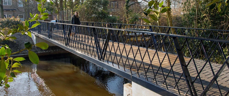 duurzame brug gerecycled beton Amersfoort St. Anfridusstraat