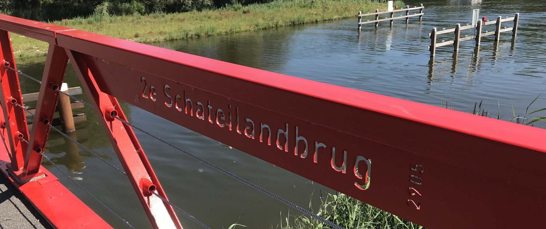 2e Schateilandbrug Almere detail brugnaam