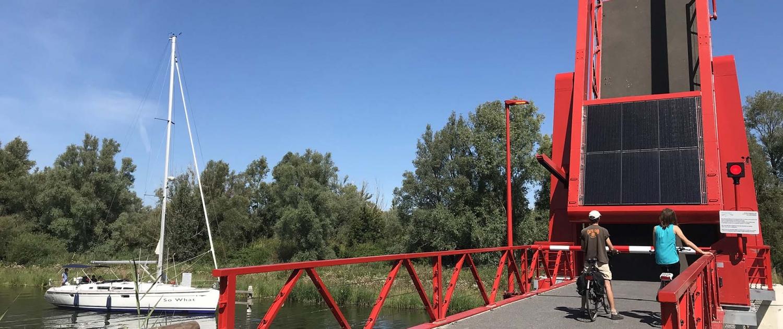 zonnepanelen op ballastkist ophaalbrug Schateiland