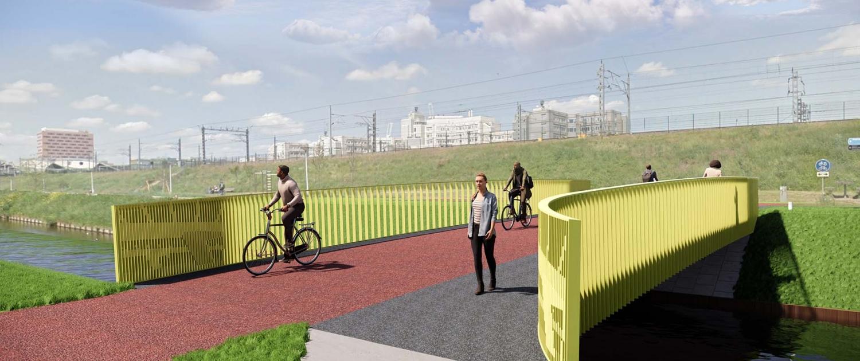 ontwerp nieuwe Pietersbergwegbrug Amsterdam