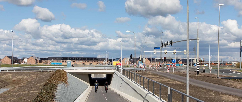 fietstunnel Waddinxveen asymmetrische wanden