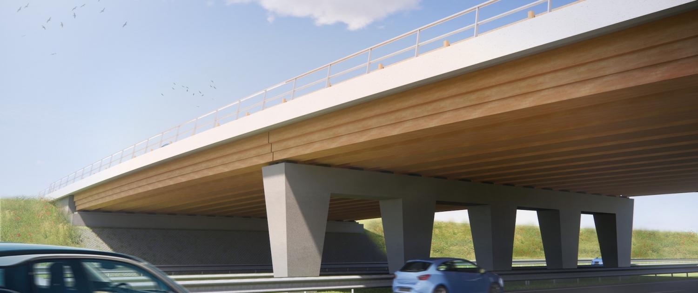 houten liggers van viaductbehout