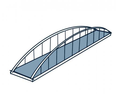 schets boogbrug constructieprincipe
