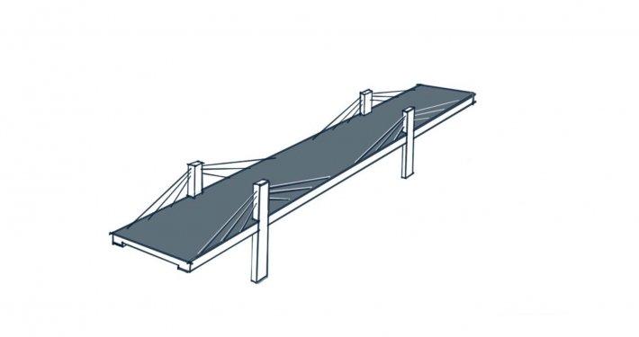 schets constructieprincipe extradosed brug