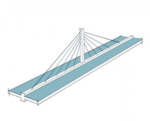 constructieprincipe pyloonbrug schets