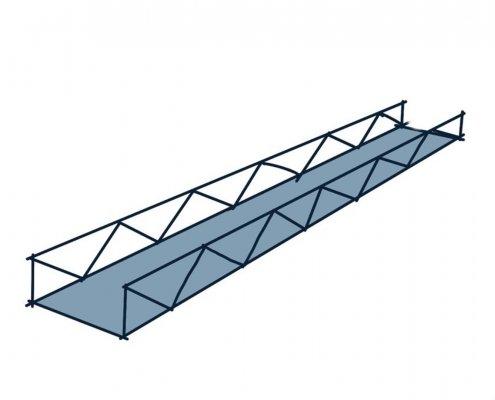 constructieprincipe stalen vakwerkbrug schets
